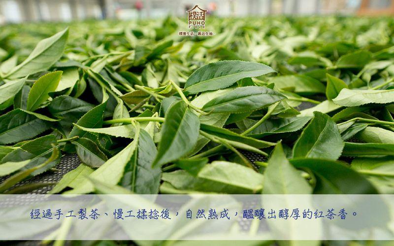 ,經過手工製茶、 慢工揉捻後,製成全發酵紅茶。